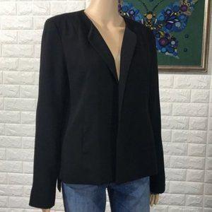 Eileen Fisher Black Silk Lined Blazer size 8